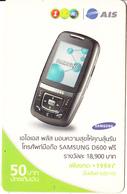 THAILAND - Samsung Mobile Phone, 1 2 Call/AIS Prepaid Card 50 Baht, Exp.date 12/07, Used - Telephones