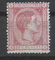 ESPAÑA EDIFIL 166 MH  * - 1875-1882 Reino: Alfonso XII