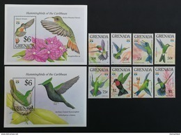 Grenada 1994** Mi.2420-27 + Bl.305, 306. Birds [19;193] - Hummingbirds