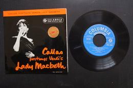 (MARIA) CALLAS PORTRAYS VERDI'S LADY MACBETH EP ANGLAIS DE 1959 - 45 Rpm - Maxi-Single