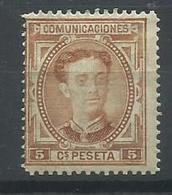 ESPAÑA EDIFIL 174  MH  * - 1875-1882 Reino: Alfonso XII