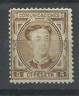 ESPAÑA EDIFIL 174  (*)  ( SIN GOMA) - 1875-1882 Reino: Alfonso XII