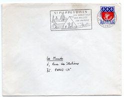 CALVADOS - Dépt N° 14 = St PIERRE Sur DIVES 1966 = FLAMME Codée = SECAP  Illustrée ' HALLES ABBATIALE Marché  ' - Mechanical Postmarks (Advertisement)
