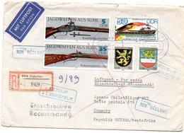 """DDR 1990  Brief/ Letter """" Returned To Sender """"  DDR Nach Guinea  ; Fehler/ Fault - Post"""