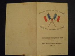 CHINE - CHINA - DETACHEMENT FRANCAIS DE PEKIN - Fête Nationale Du 14 Juillet 1936 - Menus