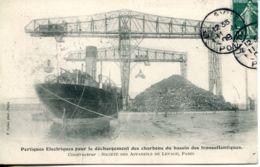 N°66936 -cpa Portique électriques Pour Déchargement Des Charbons Du Bassin Des Transatlantique- - Commerce