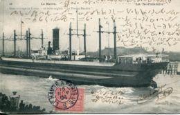 """N°66944 -cpa Le Havre -gros Arrivage De Coton -dix Mats """"le Poplar Branch"""" - Commerce"""