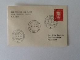 Sweden Midnight Sun Flight 6-6-1959 Polcirkeln - Lettres & Documents
