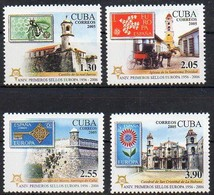 Kuba 2005 MiNr. 4756/ 4759 A  **/ MNH  ; 50 Jahre Europa- Marken: Castillos, Kirchen - Kuba
