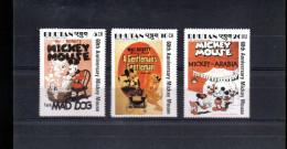 BHOUTAN 826/828** SUR L ANNIVERSAIRE DE MICKEY  AFFICHE DE FILMS - Bhoutan