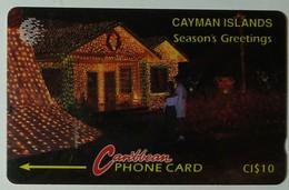 CAYMAN ISLANDS - GPT - CAY-10A - Season's Greetings - 10CCIA - $10 - Silver Strip - Used - Cayman Islands