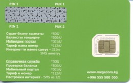 KYRGYZSTAN / MegaCom / GSM Sim-card / Microchip / MINT - Kirghizistan