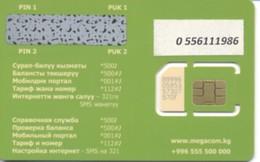 KYRGYZSTAN / MegaCom / GSM Sim-card /  MINT - Kirghizistan