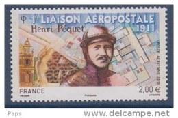 FRANCE 2011-P.A. N°74**1ere LIAISONPOSTALE PAR H.PEQUET - Poste Aérienne