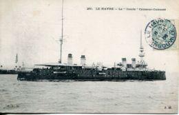"""N°66952 -cpa Le """"Condé""""  Croiseur Cuirassé - Guerre"""