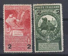 ITALIE  N° S 95* Et 96* (1913) - 1900-44 Vittorio Emanuele III