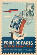 FOIRE DE PARIS DU 10 AU 26 MAI 1947 ILLUSTREE PAR RENLUC - Marcophilie (Lettres)