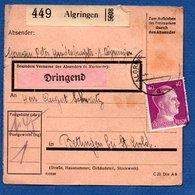 Allemagne   -  Colis Postal  -- Départ Algringen  -  Pour Betting  -  01/5/1943 - Allemagne