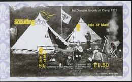 Ile De Man 2007 Yvertn° 1378-1379 Bloc Du Carnet *** MNH Cote 8 Euro Scoutisme - Man (Ile De)