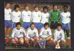 CPSM FOOTBALL - EQUIPE DE FRANCE WORLD CUP 1978 - PLATINI TRESOR BOSSIS Photo Italie-France Naples - Fussball