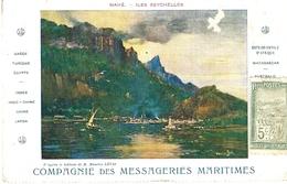 MAHE - Iles Seychelles  - Compagnie Des M.M.  Au Dos,affr. Maritime ( à Bord Du Mpanjaka ) - Seychelles