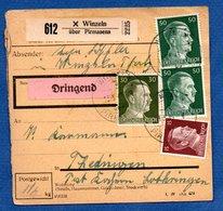 Allemagne   -  Colis Postal  -- Départ Winzel-  Pour Théding - - Allemagne