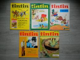 Tintin - Lot De 5 Revues - La Tribu Terrible - Luc Orient - Olivier Rameau - 1971 Et 1972 - Publicités Diverses - Tintin