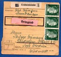 Allemagne   -  Colis Postal  -- Départ Kirchheimbolanden - Pour Théding  -- - Allemagne