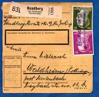 Allemagne   -  Colis Postal  -- Départ Sandberg - Pour Waldheim  - - Deutschland