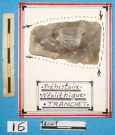 Préhistoire, Néolithique, Superbe Tranchet En Silex Taillé. Neolithic. - Archéologie