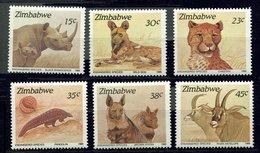 Zimbabwe ** N° 186 à 191 - Espèces En Danger - Zimbabwe (1980-...)