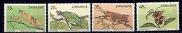 Zimbabwe ** N° 148 à 151 - Insectes - Zimbabwe (1980-...)