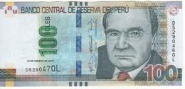 PERU   (error Note) 100 Soles (Mismatched Serial Nr.  .....470L & 460L ) 19.2.2015 Pnew UNC - Perú