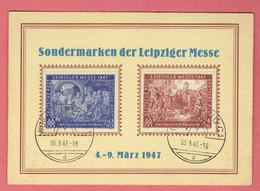 Leipzig - Sondermarken Der Leipziger Messe 1947 - Allemagne