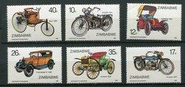 Zimbabwe ** N° 124 à 129 - Motocyclettes  Automobiles - Zimbabwe (1980-...)