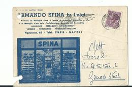 ARMANDO SPINA  VIA PIGNAEECCA 62 NAPOLI COME DA SCANNER - Napoli