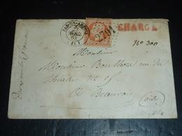 """LETTRE GROS CHIFFRE 2791 - CHARGE 1863 """" PAS EN ARTOIS """" - 62 PAS DE CALAIS (AD) - 1849-1876: Période Classique"""