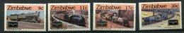 Zimbabwe ** N° 77 à 80 - Locomotives - Zimbabwe (1980-...)