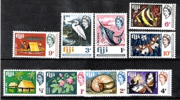 Fiji 1968 Definitives To 1s MNH CV £3.30 - Fiji (...-1970)