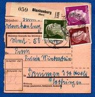 Allemagne   -  Colis Postal  -- Départ Blankenburg - - Alemania