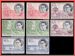 Congo 0329/36 SG  Visite Royale Au Congo  Sans Gomme Withou Gum - 1947-60: Neufs