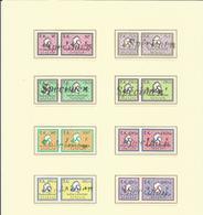 Amendes Surcharge Spécimen Neufs - Revenue Stamps