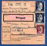Allemagne   -  Colis Postal  -- Départ Dzieditz  -- Pour Waldheim --15/6/1943 - Deutschland