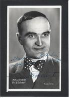 Autographe Signature à L'encre Sur Carte Postale Maurice PIERRAT - Autographes
