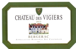 Etiket Etiquette - Vin - Wijn - Bergerac - Chateau Des Vigiers - 2013 - Bergerac