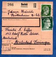 Allemagne   -  Colis Postal  -- Départ Benfeld  --  17/3/1943 - Allemagne