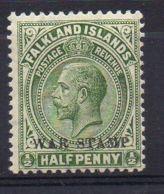 FALKLAND ( POSTE ) : Y&T  N°  37  TIMBRE  NEUF  AVEC  TRACE  DE  CHARNIERE  . - Falkland
