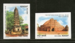 Vietnam 2018 India Joints Issue Ancient Arch Sanchi Stupa Pho Minh IMPERF MNH # 46 - Joint Issues