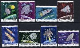 HUNGARY 1964 Space Exploration Set Of 8 MNH / **.  Michel 1991-98 - Hungary