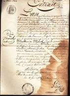 Rougé (44) Extrait état Civil 1846 - Voir état - Vieux Papiers